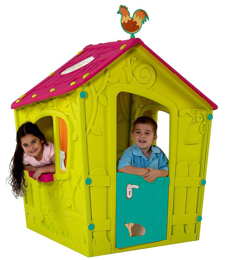 Dětský Dům Magic Playhouse Zeleno-Růžové 17185442 BAUMAX
