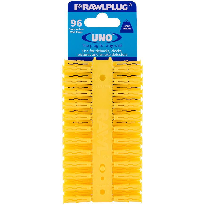 Hmoždinka univerzální uno žlutá 5x24mm(96ks) RAWLPLUG